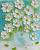 daisy oil impasto painting, custom painting