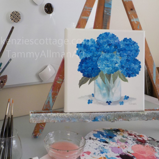 flower watercolor on canvas