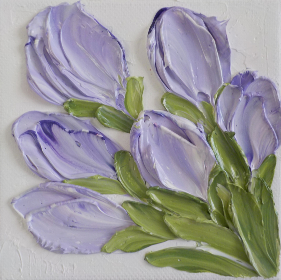 Small Lavender Tulip painting