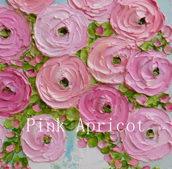 pink and apricot ranunculus
