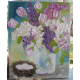 Lilacs and Tulips Oil Painting, Impasto Oil Painting, Lilac Oil Painting
