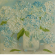 Blue and White Hydrangea painting
