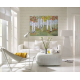 birch painting in white room decor
