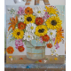 sunflower and wildflower oil impasto painting