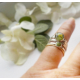 Sage and Thyme Herbal Ring with Stacking Rings