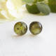 dried flower,Sterling silver and resin herbal studs