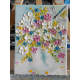 Dragonfly and Wildflower Oil Impasto Painting on Easel