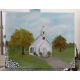 old church fall painting