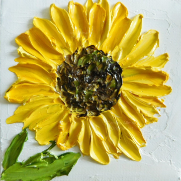 Sunflower Oil Impasto Painting