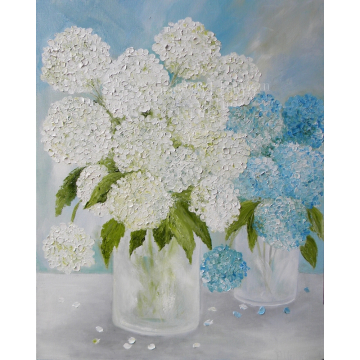 Double Vase Hydrangea Fine Art Painting by artist Tammy Allman