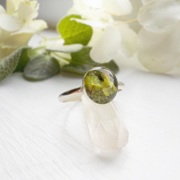 Sage and Thyme Eco Resin Sterling Silver Ring