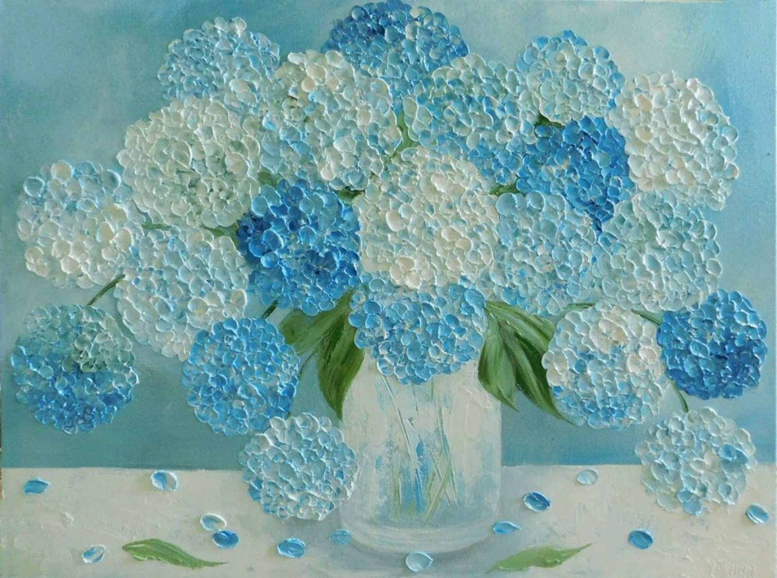 Hydrangea Oil Painting Original Custom Hydrangea Painting
