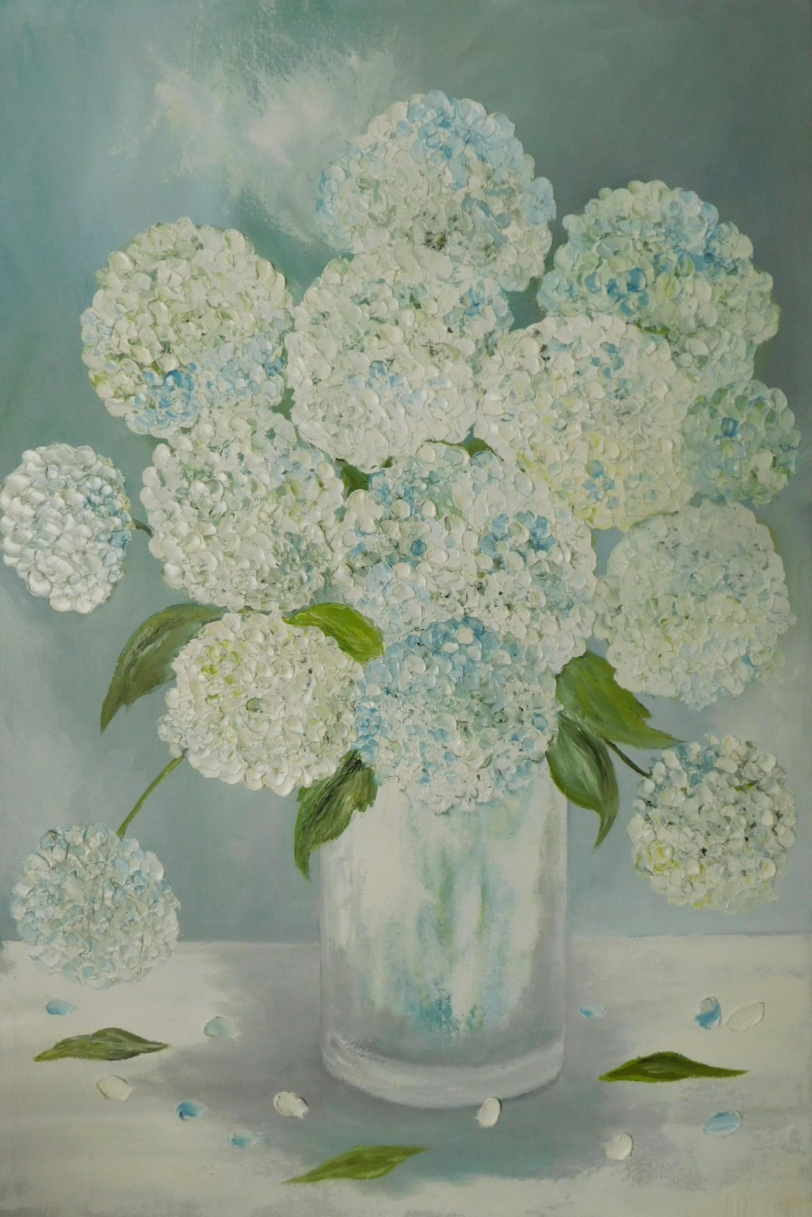 Hydrangea Painting Original Custom