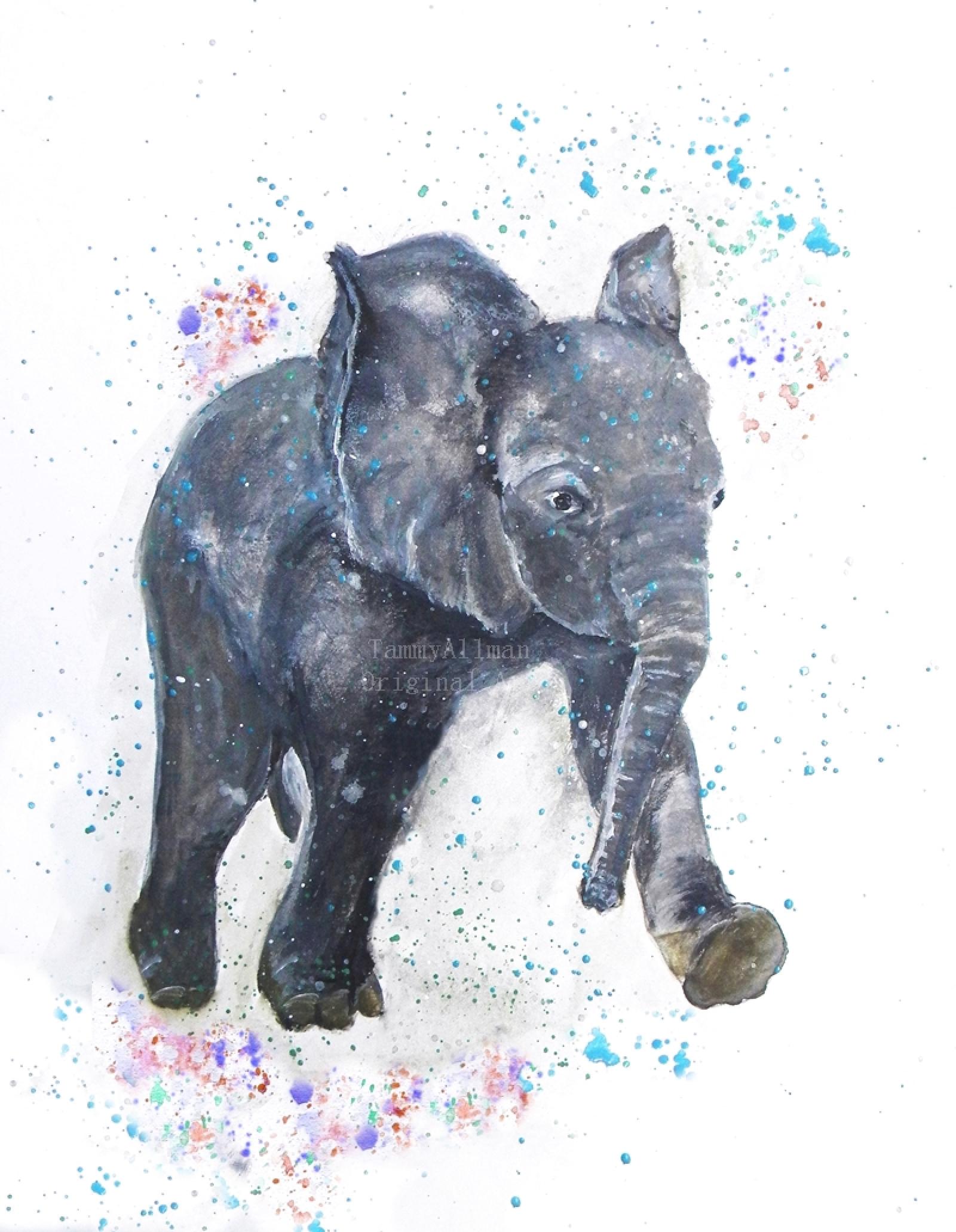 Elephant Watercolor Baby Elephant Watercolor Kenzie S Cottage
