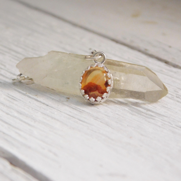 Mexican Cantera Opal Sterling SIlver Pendant, Natural Opal