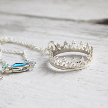 Princess Necklace, Crown Necklace, Mother and Daughter Necklace, Grandmother and Granddaughter Necklace