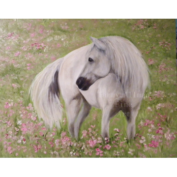 White Horse Oil Painting, White Horse Original Custom Painting